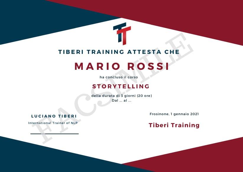 attestato storytelling